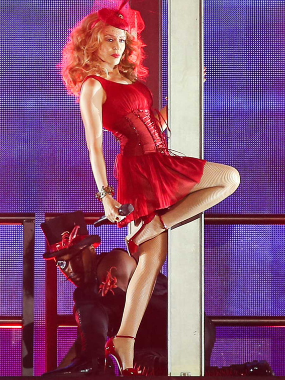 Kylie Minogue performs during her 'Kiss Me Once' Tour at the Pho