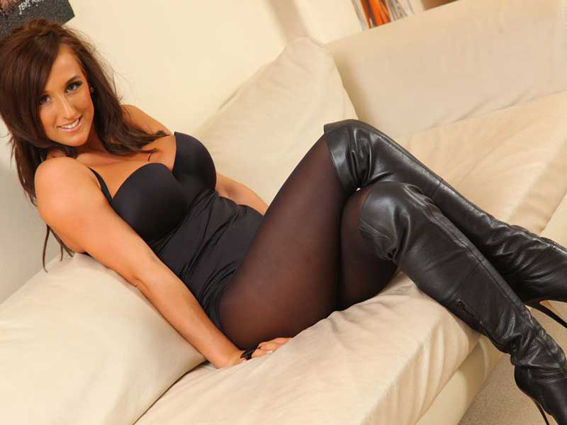 Stacey-Poole-Topless-in-Stockings-and-High-Boots-11