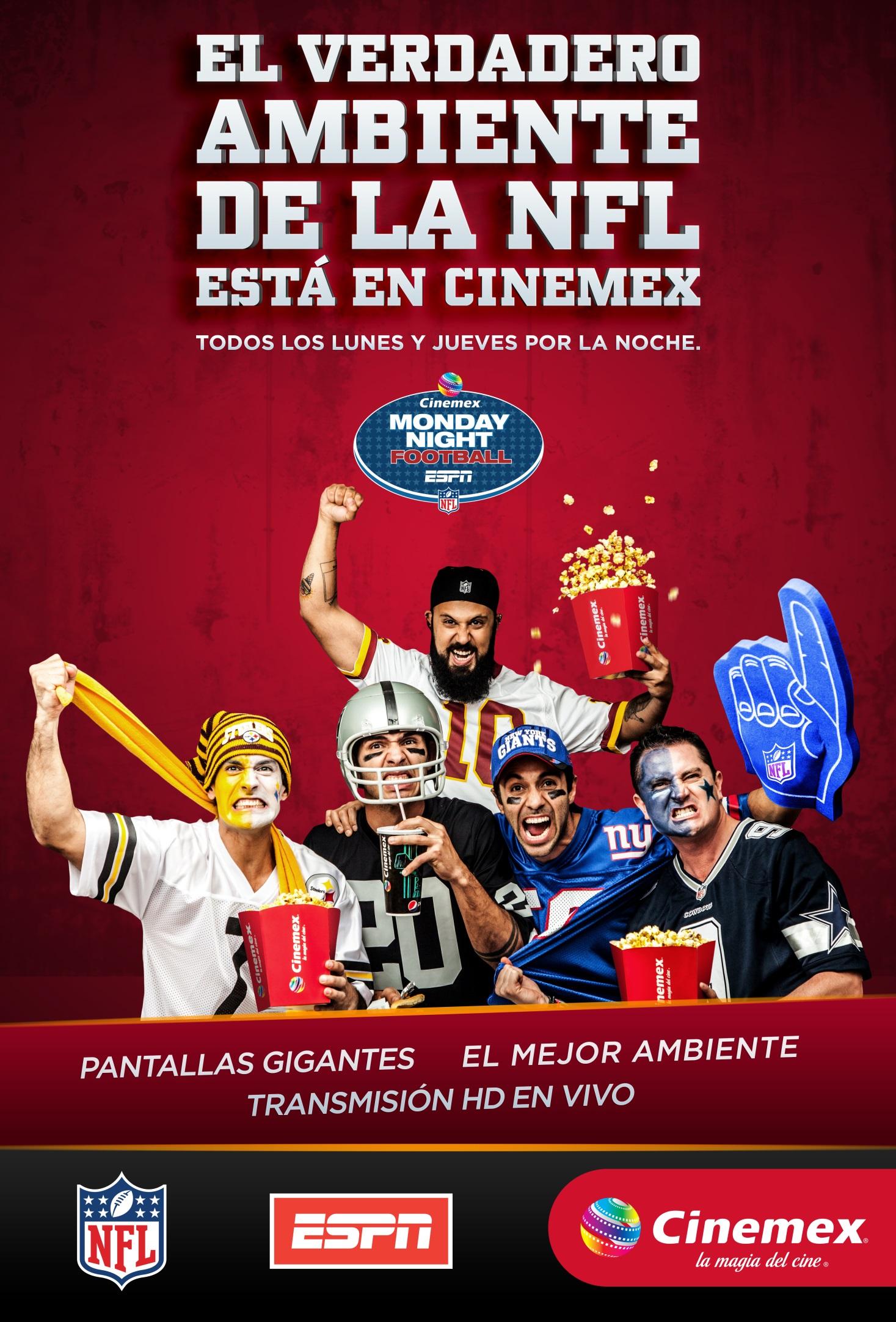 Cinemex vive la pasión de la NFL